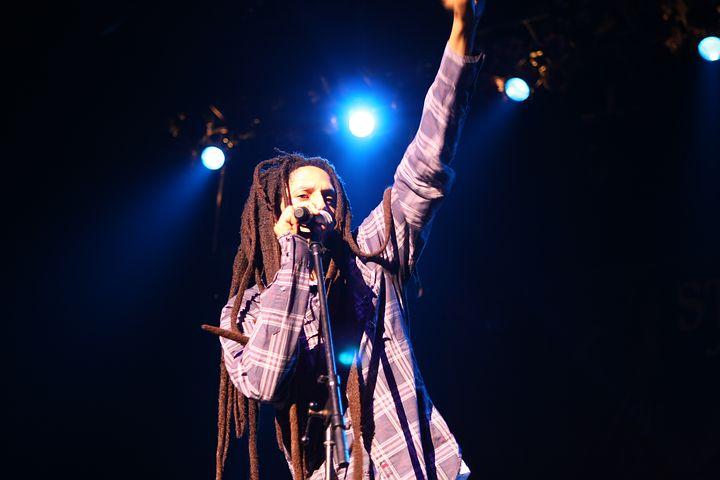 Bob Marley bei einem Auftritt
